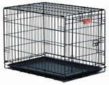 MidWest iCrate Folding Metal Dog Crate Single Door 18-Inch w/Divider - Chickadee Solutions - 1