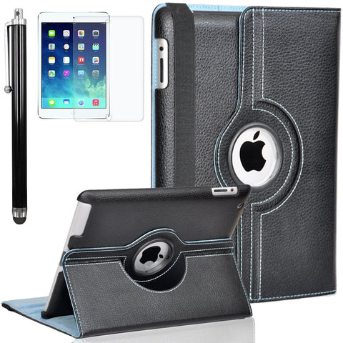 Zeox iPad Air 2 Case - 360 Degree Rotating Stand Case with Smart Cover Auto S... - Chickadee Solutions