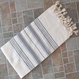 Natural & Gray Turkish Towel Peshtemal - 100% Natural Dyed Cotton - for Beach... - Chickadee Solutions - 1