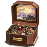 "Thomas Kinkade ""Visions Of Christ"" Wooden Music Box by The Bradford Exchange - Chickadee Solutions - 1"