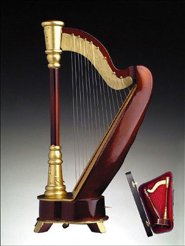 Harp 18 Note w Case Music Box Replica Musical Instrument - Chickadee Solutions