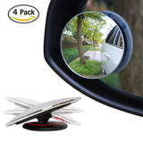 "4 Pack Upgrade 2"" Blind Spot Mirrors Ampper 360 Rotate + 30 Sway Adjustabe HD... - Chickadee Solutions - 1"