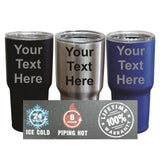 Engraved Custom SIC Cup Tumbler - Personalized 30 oz Powder Coated Cups with ... - Chickadee Solutions - 1