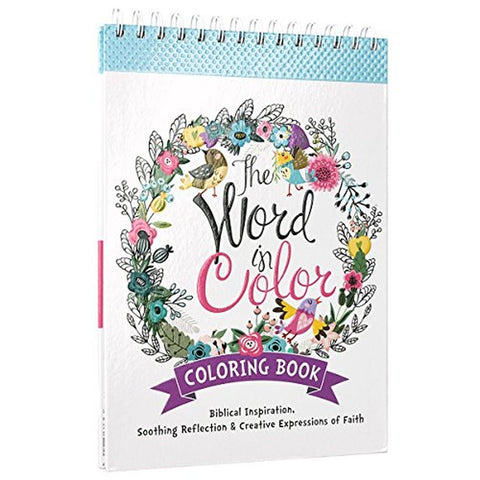 """The Word in Color"": Hardcover Biblical Inspiration Adult Coloring Book - Chickadee Solutions - 1"