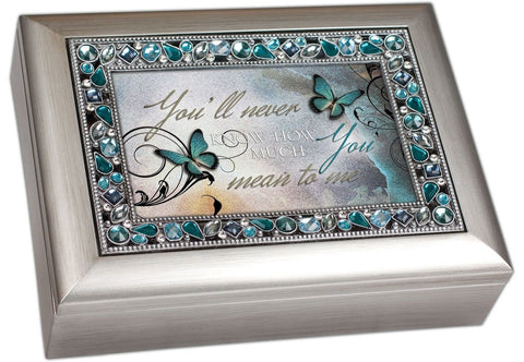 You'll Never Know How Much You Mean to Me Musical Music Jewelry Box - Plays W... - Chickadee Solutions - 1