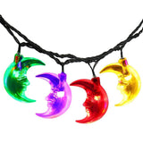 Finether 21.3 ft Solar Powered 30 LED Clear Moon Face String Lights for Indoo... - Chickadee Solutions - 1