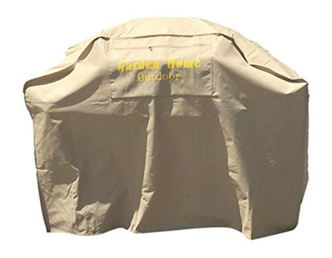 "Garden Home Outdoor Grill Cover for Weber (Genesis) 52-Inch Khaki 52"" - Chickadee Solutions"