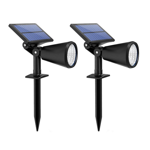 Mpow 2-Pack Solar Spotlight Landscape Lights Outdoor Lighting for Lawn Patio ... - Chickadee Solutions - 1