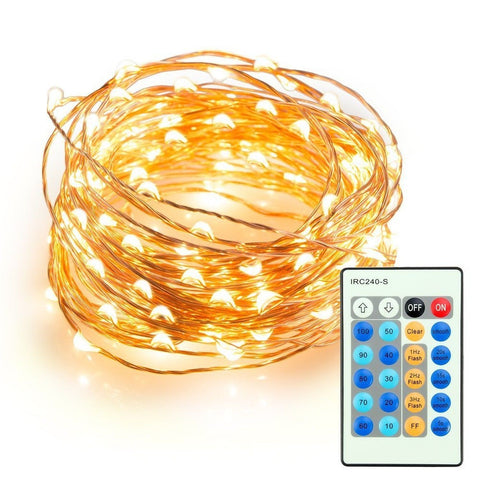 33ft LED String Lights ThorFire 100 LEDs Copper Wire Lights Flexible Fairy Li... - Chickadee Solutions - 1