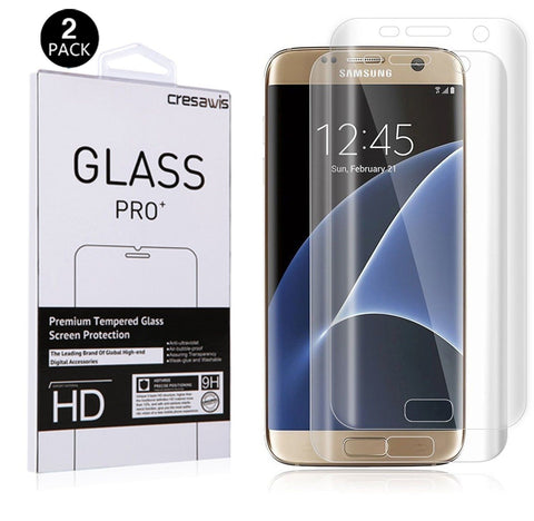 Galaxy S7 Edge Screen Protector [Not Tempered Glass] cresawis Samsung Galaxy ... - Chickadee Solutions - 1