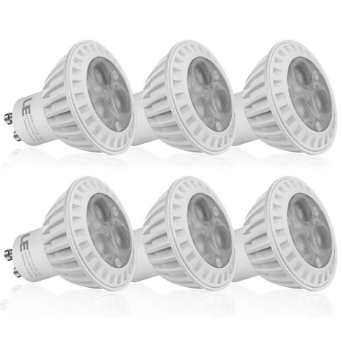 LE 6 Pack Dimmable MR16 GU10 LED Light Bulbs 50W Halogen Bulbs Equivalent 5W ... - Chickadee Solutions - 1