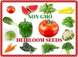 Heirloom Vegetable Seeds- Non GMO - Fruit Seeds-Vegetable Seeds- Herb Seeds A... - Chickadee Solutions - 1