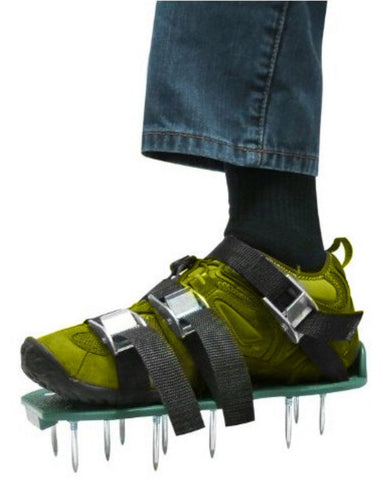Bisgear Lawn Aerator Sandals/Spikes Shoes Set Aerating Spiked Shoes with Zinc... - Chickadee Solutions - 1