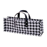 Revel Paper 2284 Hounds Tooth Single Bottle Jute Wine Bag White - Chickadee Solutions