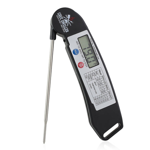 Cave Dweller Instant Read Meat Thermometer | Digital Display w/ Foldable Prob... - Chickadee Solutions - 1