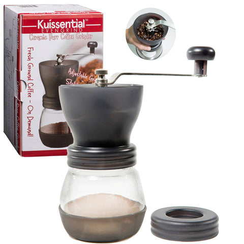 Coffee Burr Grinder- The Original EvenGrind Manual Ceramic Burr Grinder with ... - Chickadee Solutions - 1
