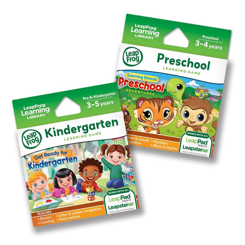 LeapFrog LeapPad Game Cartridges 2-pack - Get Ready for Kindergarten Preschoo... - Chickadee Solutions - 1