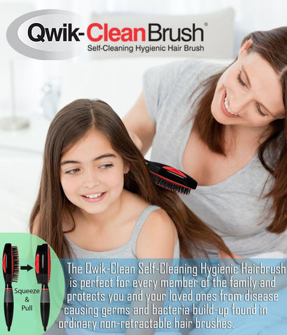 Qwik clean hair brush self cleaning easy clean hair brush beige taupe chickadee solutions - Easy hair care solutions ...