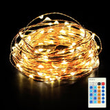 Homdox LED Fairy Starry String Lights 33ft Copper Wire Rope Lights for Decora... - Chickadee Solutions - 1