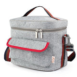 Lifeasy - Felt Insulated/Cooler Lunch Bag with Crossbody Strap - Chickadee Solutions - 1