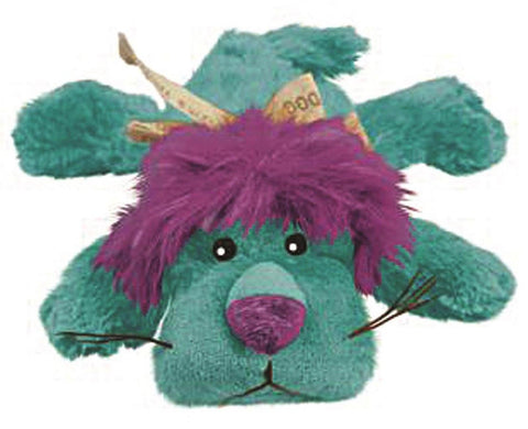 KONG Cozie Dog Squeaky Toy King the Purple Haired Lion Medium - Chickadee Solutions - 1