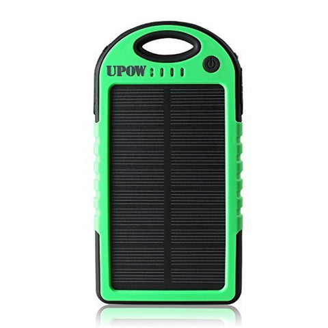 Upow 5000mAh Portable Charger Solar Power Bank Solar Panel Charger Fits Most ... - Chickadee Solutions - 1