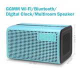 GGMM E3 Wireless WiFi/ Bluetooth Speaker with LED Alarm Clock & Smart USB Cha... - Chickadee Solutions - 1