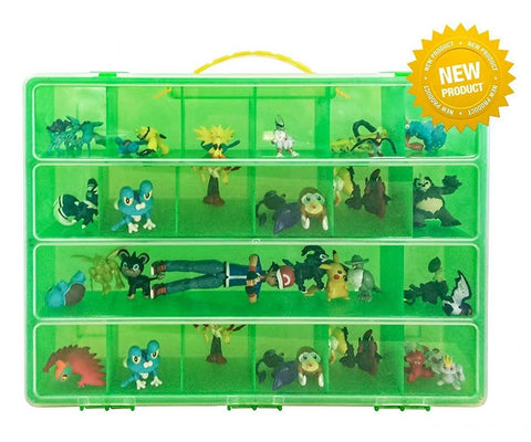 Battle Toy Organizer - The Perfect Toy Figure Storage Box- Fits Up to 40 Figu... - Chickadee Solutions - 1