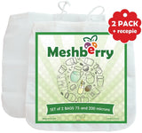 Nut Milk Bags - 2 Pack - Best Silky Texture Maker - Juice & Cottage Cheese & ... - Chickadee Solutions - 1