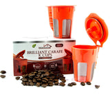(2 pack) Reusable Brilliant Carafe K Cups for Keurig 2.0 -Compatible & Refill... - Chickadee Solutions - 1