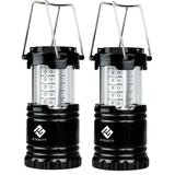 Etekcity 2 Pack Portable Outdoor LED Camping Lantern with 6 AA Batteries (Bla... - Chickadee Solutions