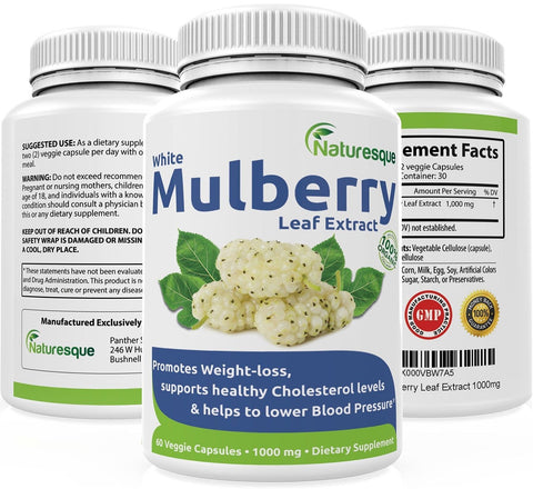 #1 White Mulberry Leaf Extract | 1000mg | Low Blood Sugar | Rich in Antioxida... - Chickadee Solutions - 1