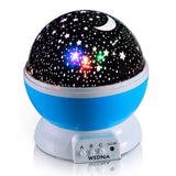 WEDNA Novelty 360 Rotating Galaxy Night Light Romantic Cosmos Star Moon Sky P... - Chickadee Solutions - 1