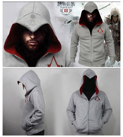 assassin 39 s creed style connor kenway pullover hoodie. Black Bedroom Furniture Sets. Home Design Ideas