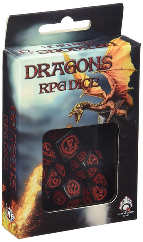 Dragon Dice Black/Red (7) Board Game - Chickadee Solutions