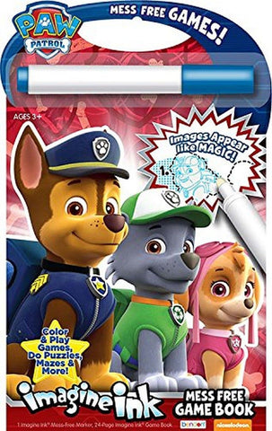 Bendon Paw Patrol Imagine Ink: Mess Free Game Book - Chickadee Solutions