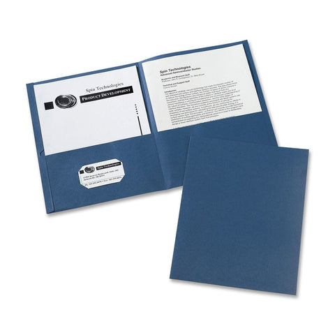 Avery Two-Pocket Folders Dark Blue Box of 25 (47985) - Chickadee Solutions