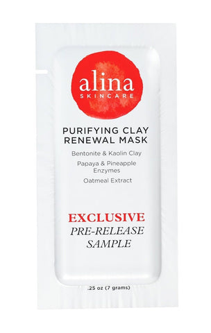 (PRE-RELEASE TRIAL SIZE) Alina Skin Care Purifying Clay Renewal Mask foil pou... - Chickadee Solutions - 1