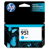 HP 951 Cyan Original Ink Cartridge (CN050AN) - Chickadee Solutions - 1