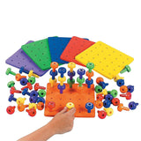 Stack It Peg Game With Board Occupational Therapy Autism Fine Motor Skills by... - Chickadee Solutions