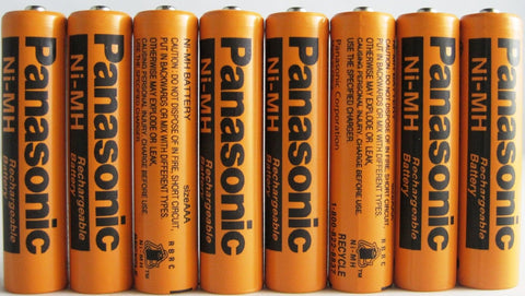 8 Pack Panasonic NiMH AAA Rechargeable Battery for Cordless Phones - Chickadee Solutions