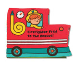 Melissa & Doug Soft Activity Book - Firefighter Fred To The Rescue - Chickadee Solutions - 1