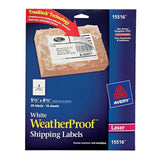 Avery WeatherProof Labels for Laser Printers 5.5 x 8.5 Inch White Pack of 20 ... - Chickadee Solutions - 1