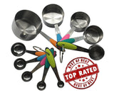 Measuring Cups and Spoons Set from Gozbit - 11 Piece - Stainless Steel with M... - Chickadee Solutions - 1