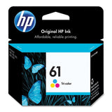 HP 61 Tri-color Original Ink Cartridge (CH562WN) 1-Pack - Chickadee Solutions - 1