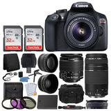 Canon EOS Rebel T6 Digital SLR Camera + Canon 18-55mm EF-S Lens & EF 75-300mm... - Chickadee Solutions - 1