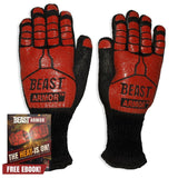 Grill Beast BBQ Grilling Cooking Gloves - Heat Resistant Kevlar & Silicone In... - Chickadee Solutions - 1