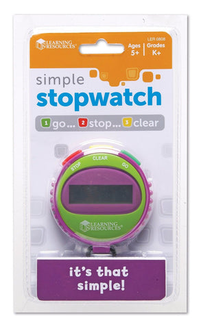 Learning Resources Simple Stopwatch Assorted colors - Chickadee Solutions - 1
