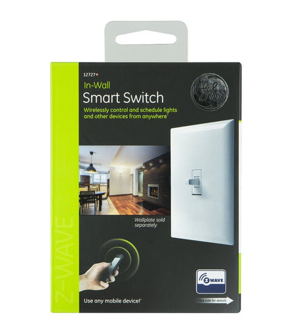 Ge Z-Wave Wireless Lighting Control Smart Toggle Switch In-Wall White 12727 Chickadee Solutions