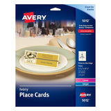 "Avery Ivory Place Cards Laser/Inkjet Printers 1-7/16""x3-3/4"" Pack of 150 (5012) - Chickadee Solutions - 1"